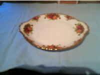 Royal Albert Old Country Roses Cake / Sandwich Plate Factory Seconds. Bone China