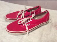 Vans Red Trainers Size 6