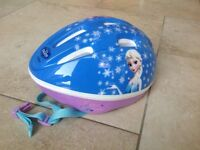 Disney Frozen kids bike helmet in excellent condition,worn once