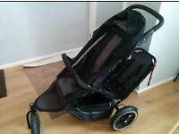 Phil and Ted double Pram for sale