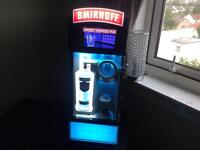 SMIRNOFF remix shot cooler machine