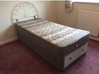 Single Bed with Matress Complete with a Drawer