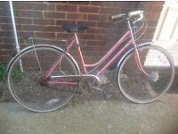 Vintage Ladies Puch Traditional Town Bike 3 Speed