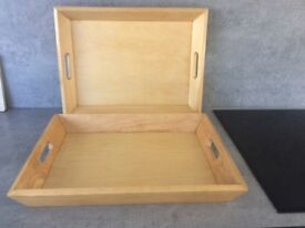 Wooden trays - large