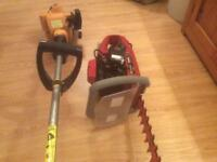 Petrol Strimmer and hedge trimmer
