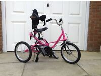 Tomcat Trike in Pink Excellent Condition