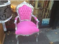 French style pink princess chair