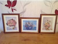 Set of 6 framed prints (3 large and 3 small)