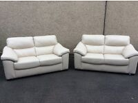 New NATUZZI Editions Italian Real Leather 2x2 Sofas Never Used Can Deliver