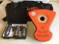 ALKO Al-ko Caravan Wheel Lock Kit No 33. Excellent Used Condition