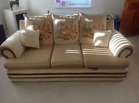 Large 3 seater sofa and two chairs