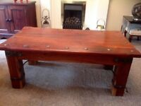 Rich mahogany coffee table