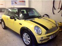 2001/51 1.6 Mini Cooper yellow immaculate wee car bargin at £1500