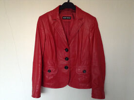 Ladies Gorgeous Leather Jacket Size 12 by Designer Gerry Weber