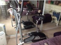 As new v fit cross trainer 2in 1 magnetic cycle & elliptical trainer