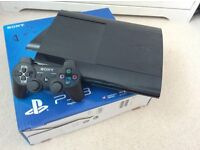 Playstation 3 with games and 332Gb memory - super slim model