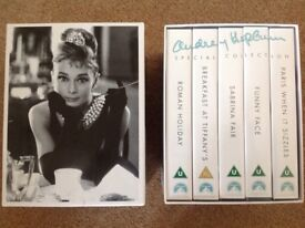 AUDREY HEPBURN Special Collection: 5 Video Box Set VHS AS NEW