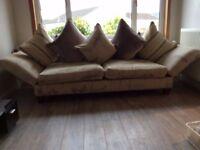 Designer sofa with drop down wings