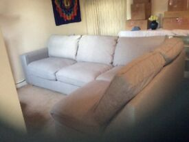 SOLD Grey corner sofa less than a year old. Selling due to house move.