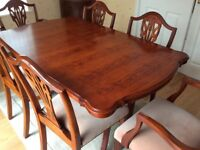 Yew (extendable) Dining Table & 6 Chairs