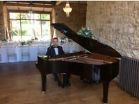 Pianist for weddings, events, etc. With white piano shell