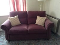 2seater sofa, 1 armchair and 1 electric reclining chair. Very good condition
