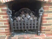 Decorative gas fire.