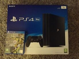 Ps4 pro console 4k 1tb. Watchdogs 2 Fifa 17. Boxed