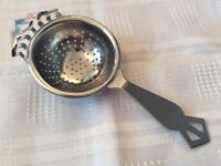 Chrome Tea Strainer.