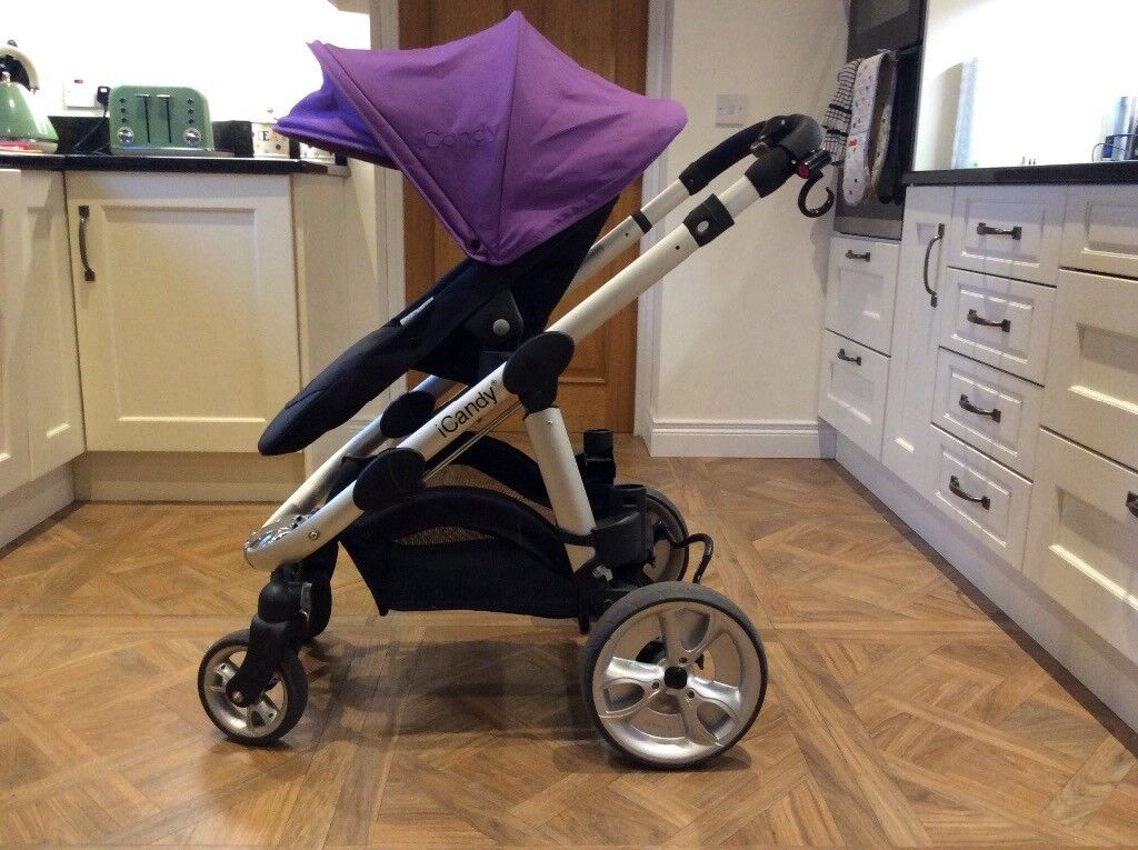 ICandy Apple to Pear - single to double pushchair - complete travel system