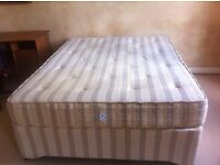 DOUBLE DIVAN / BED WITH MATTRESS - KING SIZE