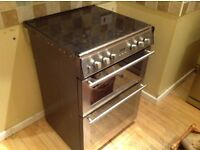 60cm Stoves Electric double oven with gas hob for sale.