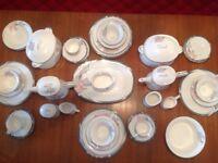 Noritake China multiple dinner set items. 41 items.