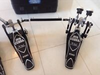 Tama cobra double pedals with matching hi hat stand