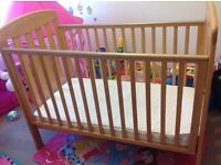 for sale cot bed mamas and papas