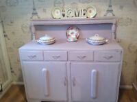 Painted Shabby Chic Court Cupboard/sideboard painted Lilac
