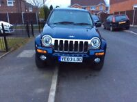 JEEP CHEROKEE 2.8 LIMITED CRD 5DR hatchback Diesel AUTOMATIC 2003 full history 9 months mot mile