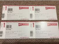 """4 x Tickets for """"The Band"""" Manchester Opera House 30 Sep 2017"""
