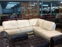 Large cream chaise corner sofa