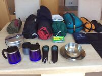 Camping Equipment- all you need for a camping trip for 2