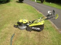 Ryobi Petrol Lawnmower great condition and strimmer Subaru engine