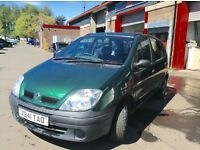 2001 Renault Megane scenic 1.4 MPV mot until Dec cheap family runabout