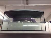 Large Bow fronted tank with lid, fish tanks, aquariums