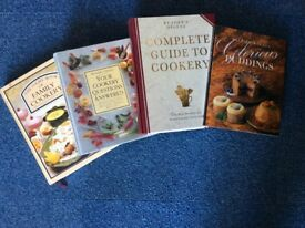 4 x cookery books (see photos)