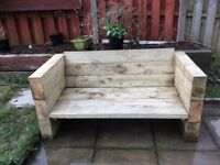 Sleeper garden bench