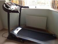 V-FIT PT142 POWER INCLINE PROGRAMMABLE FOLDING TREADMILL IN VERY GOOD CONDITION