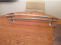 Adjustable double chrome towel rail 74cm long by 14cm high , great condition £10