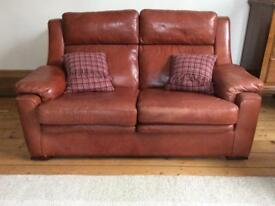 Barker and Stonehouse Beautiful leather sofa & 2 chairs. Immaculate!