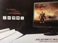 """AOC 27"""" G2770PF ***AS NEW GAMING MONITOR"""