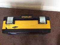 "STANLEY BRAND NEW METAL PLASTIC TOOL BOX 23"" COLLECTION ROMFORD RM5 TOOLS DIY BUILDING"